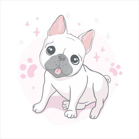 French bulldog isolated on white background. Vector illustration, dog, animal.