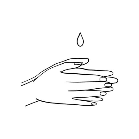 Steps To Hand Washing For Prevent Illness And Hygiene, Keep Your Healthy, Outline Icons, Sanitary, Infection, Sickness, Healthy