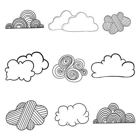 Set of sky, clouds icon, cloud. Graphic element vector. Vector design element for logo, web and print.