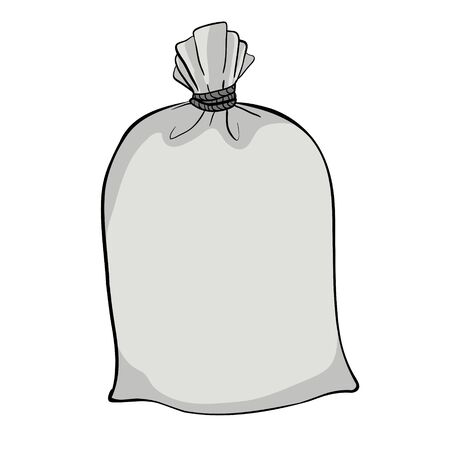 Canvas sack vector. Canvas bag Illustration