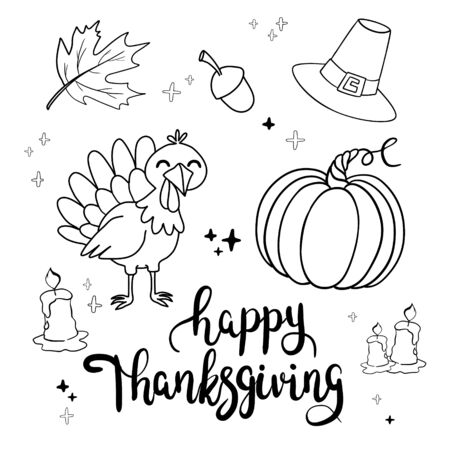 Happy Thanksgiving greeting card or background. vector illustration. Illusztráció