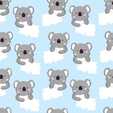 Koala bear pattern. Seamless pattern vector. Ilustrace