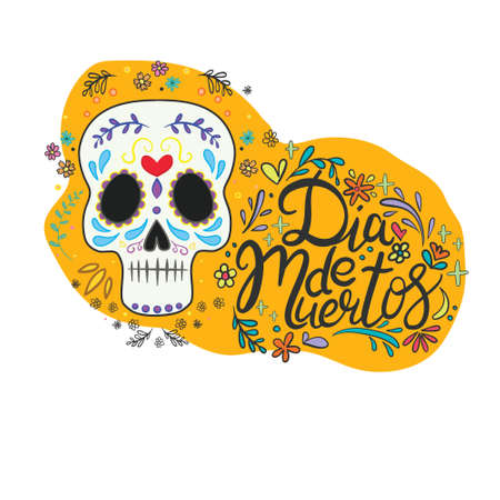 Vector hand drawn illustration of Mexican holiday