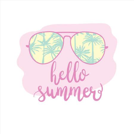 hello summer card design. vector illustration 版權商用圖片 - 154688416