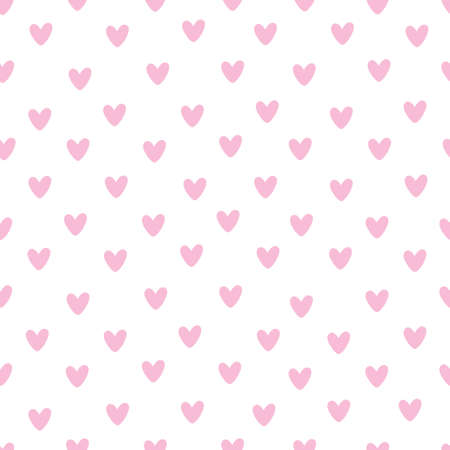 Seamless heart pattern on paper texture. Valentine's day background 版權商用圖片 - 154688493