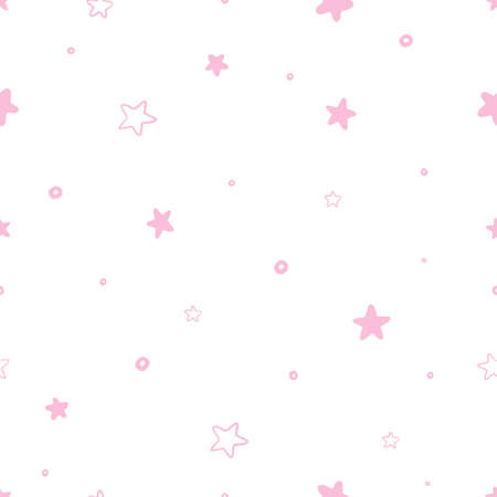 Seamless abstract stars pattern on a pink background 版權商用圖片 - 154688504