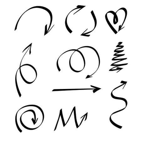 Vector illustration of curved arrow icons. 版權商用圖片 - 154688565