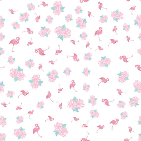Seamless Flamingo pattern. Flamingo vector background design for fabric and decor. 向量圖像
