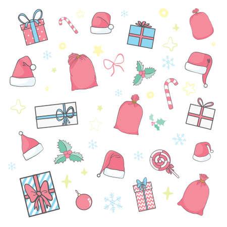 New Year's Eve icon set. Vector, illustration 向量圖像