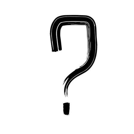 Question mark icon vector illustration on white background