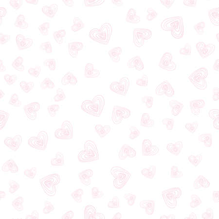 Background with hearts for valentine time. Seamless pattern Illustration