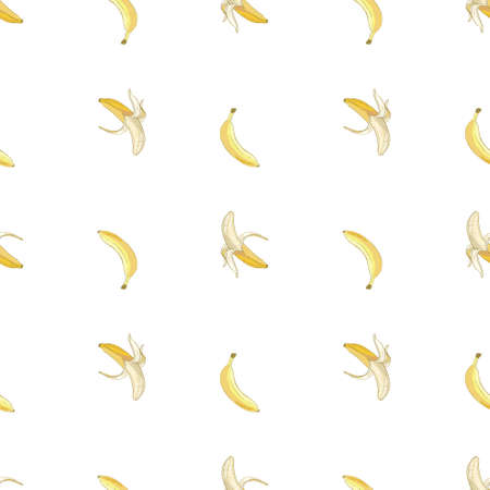 Vector seamless banana pattern. Background is on a separate layer, so you can easily change its color