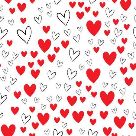 Background with hearts for valentine time. Seamless pattern Vettoriali