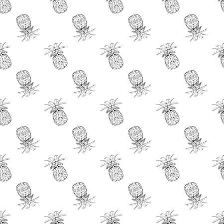 Pineapple pattern seamless print. Simple illustration of pineapple vector pattern seamless for any web design