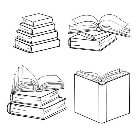 Doodle book collection - vector illustration