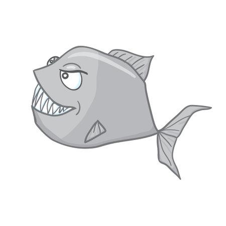 Digital illustration of a scary angler fish Stock Illustratie