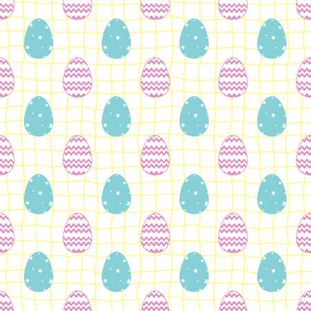 Seamless easter pattern with eggs. Illustration vector