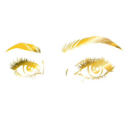 Vector logo design template for beauty salon. Lash and Brow icon. 向量圖像