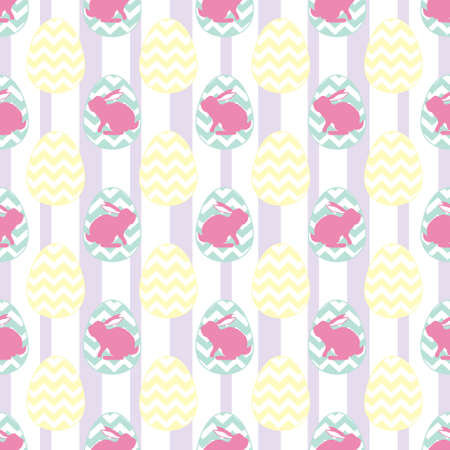 seamless pattern, rabbit vector art background design for fabric and decor. Vector illustration. Vectores