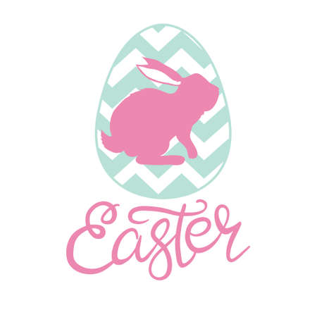 Hand sketched Happy Easter text as Pascha logotype, badge and icon. Drawn Resurrection Sunday postcard, card, invitation, poster, banner template lettering typography. Vectores
