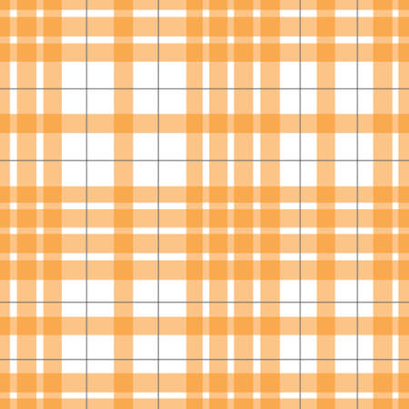 Orange checkered, tartan seamless pattern suitable for fashion textiles and graphics. Vector, illustration. Vectores
