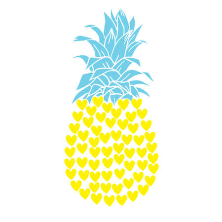 Love pineapple - funny letters, vector saying. Good for scrap booking, posters, textiles, gifts, t shirts. Vectores