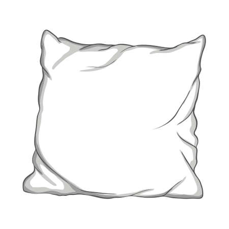 Pillow thin Line icon, sleep symbol, isolated on white background, vector Illustration