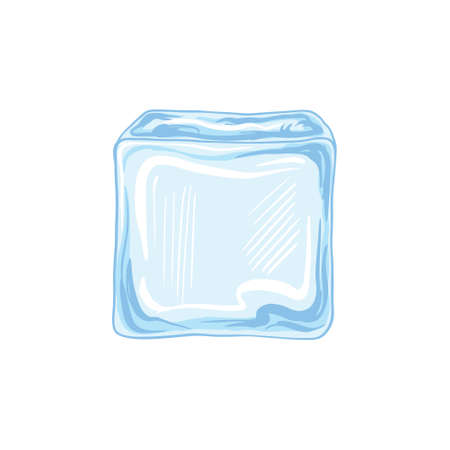 Water ice cube icon vector illustration graphic design on white background.