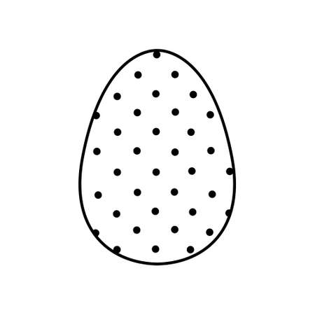 Easter egg icon with glint, simple easter egg traditional with wavy line patterns symbol vector sign, flat black silhouette on white background