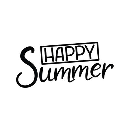 Summer vector lettering. Summer calligraphy on a transparent background. Handwritten inscription can be used in web, print, art, textile, cards. Modern brush calligraphy.
