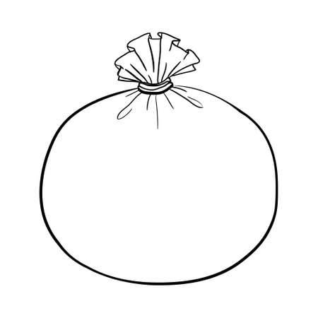 The vector of the canvas bag. canvas bag. Illustration of a canvas bag on a white background