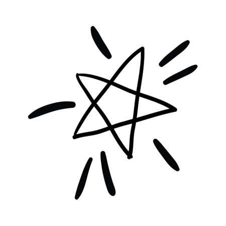 A star or a thumbnail icon. A hand-drawn vector black icon on a white background.