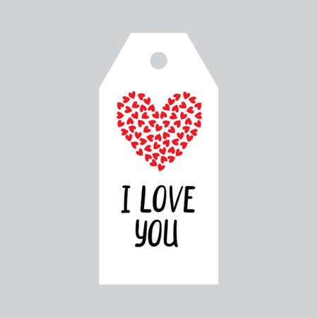 Valentine's day Gift tags, stickers and labels. Template for Greeting Scrap booking, Congratulations, Invitations, Planner, Diary, Notes.