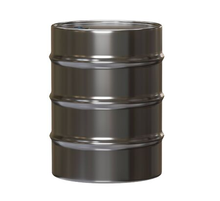 Steel barrel isolated on the white background 3d rendering