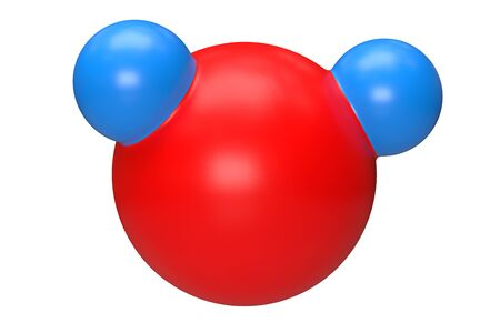 water molecule 3d rendering illustration isolated on white background