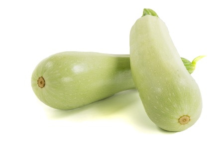 vegetable marrow: Fresh vegetable marrow isolated on white