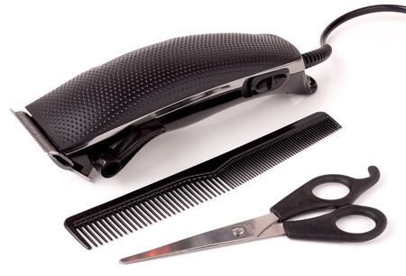 clippers comb: hair clipper isolated on white background.