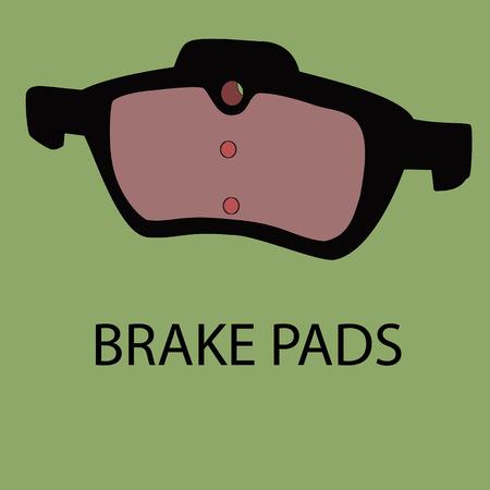 brake pad: Brake pads vector site icon.