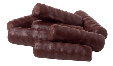 chocolate bars on a white background.