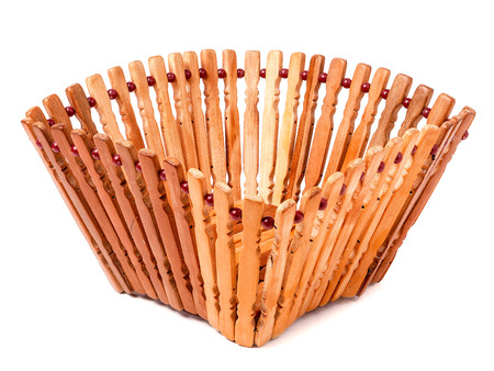 full willow: basket isolated on white background. Best quality studio photo