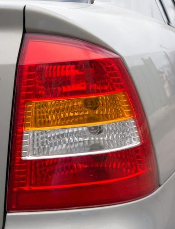 taillight: red taillight car closeup.