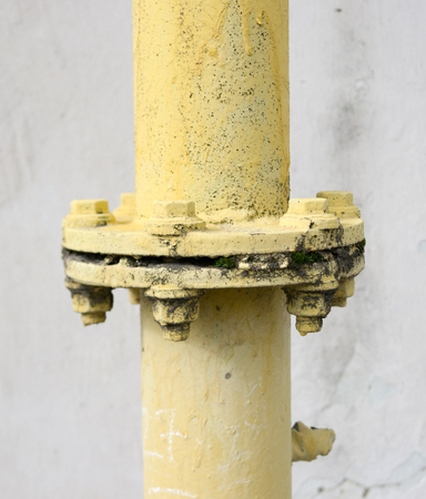 flange: the connection flange of the gas pipe.