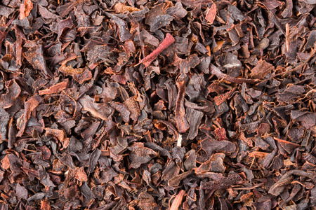 dialect: black tea as a background close-up macro.