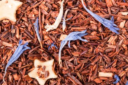 rooibos: rooibos tea as a background close-up macro. Stock Photo