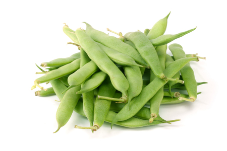 snap bean: Green beans isolated on a white background