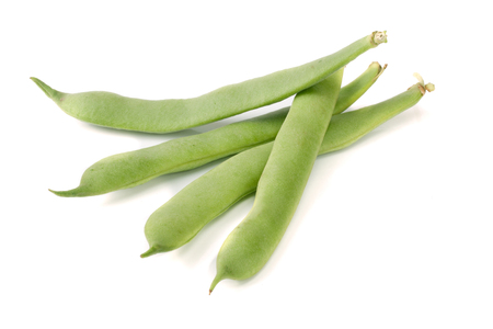 pea pod: Green beans isolated on a white background
