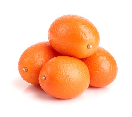 ellipse: Cumquat or kumquat isolated on white background close up