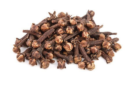 dry spice cloves isolated on white background Banco de Imagens