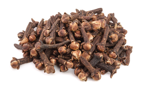 dry spice cloves isolated on white background Archivio Fotografico
