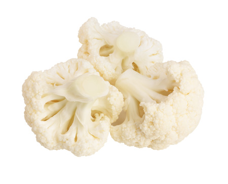 Piece of cauliflower isolated on white background macro. With clipping path 版權商用圖片 - 90044254